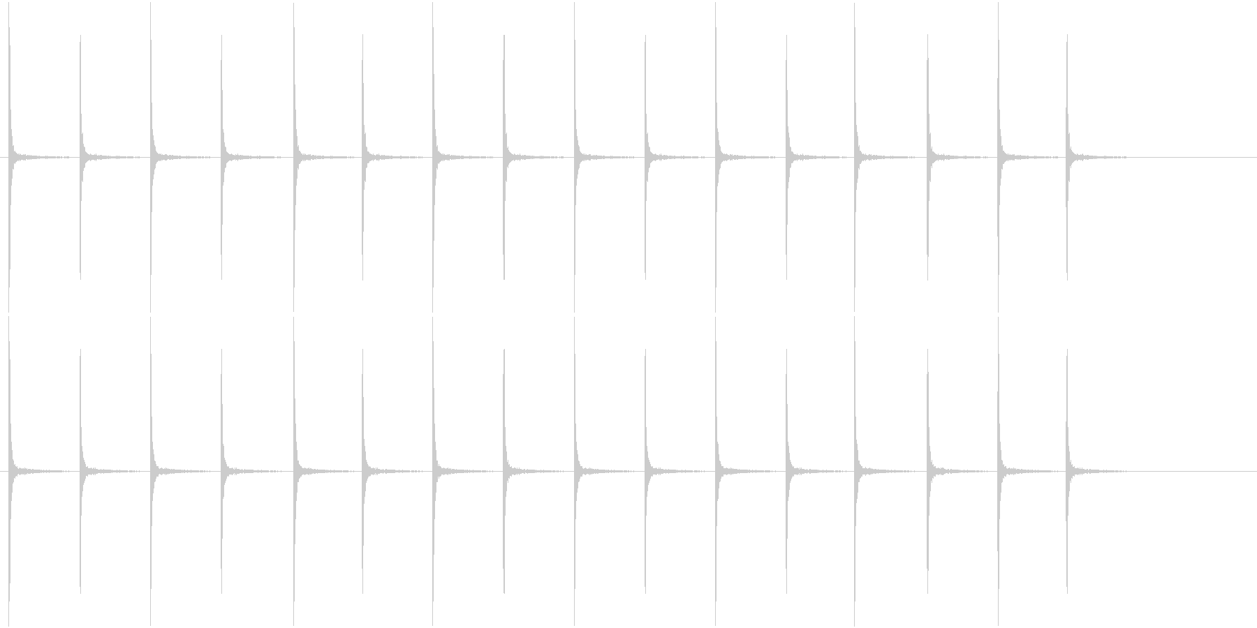アンティークな時計の音(ループ可能)の未再生の波形