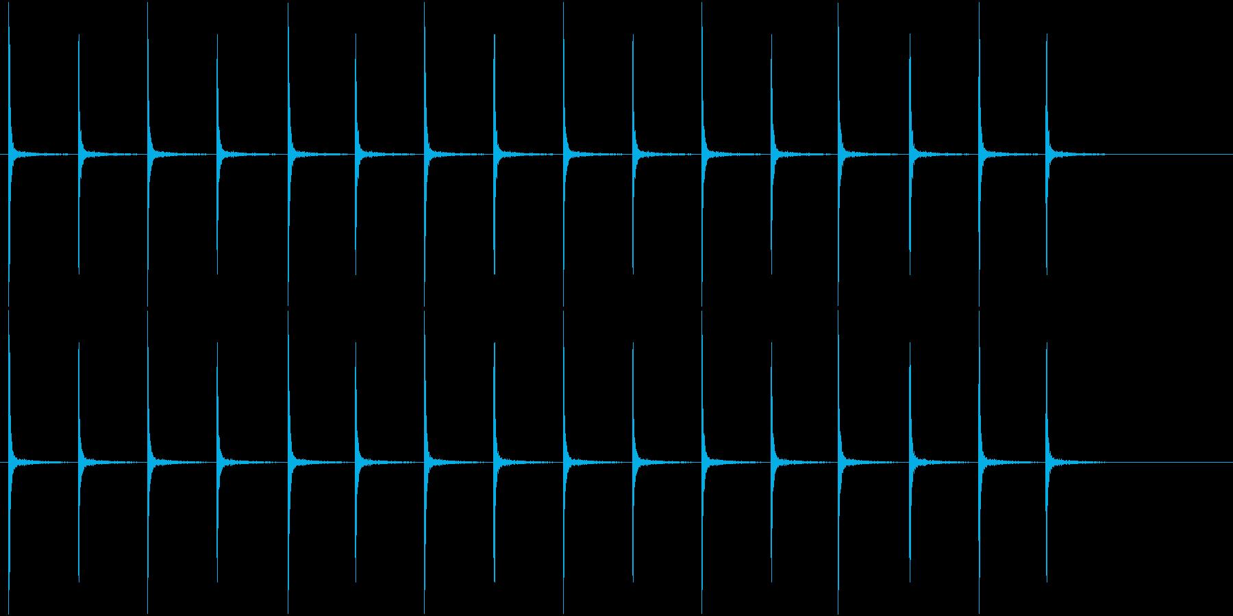 アンティークな時計の音(ループ可能)の再生済みの波形