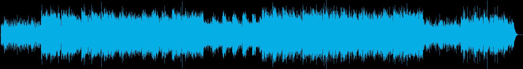 盛大かつ清々しいシンセサイザーサウンドの再生済みの波形