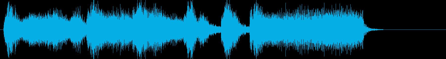 オーケストラジングルアイキャッチの再生済みの波形