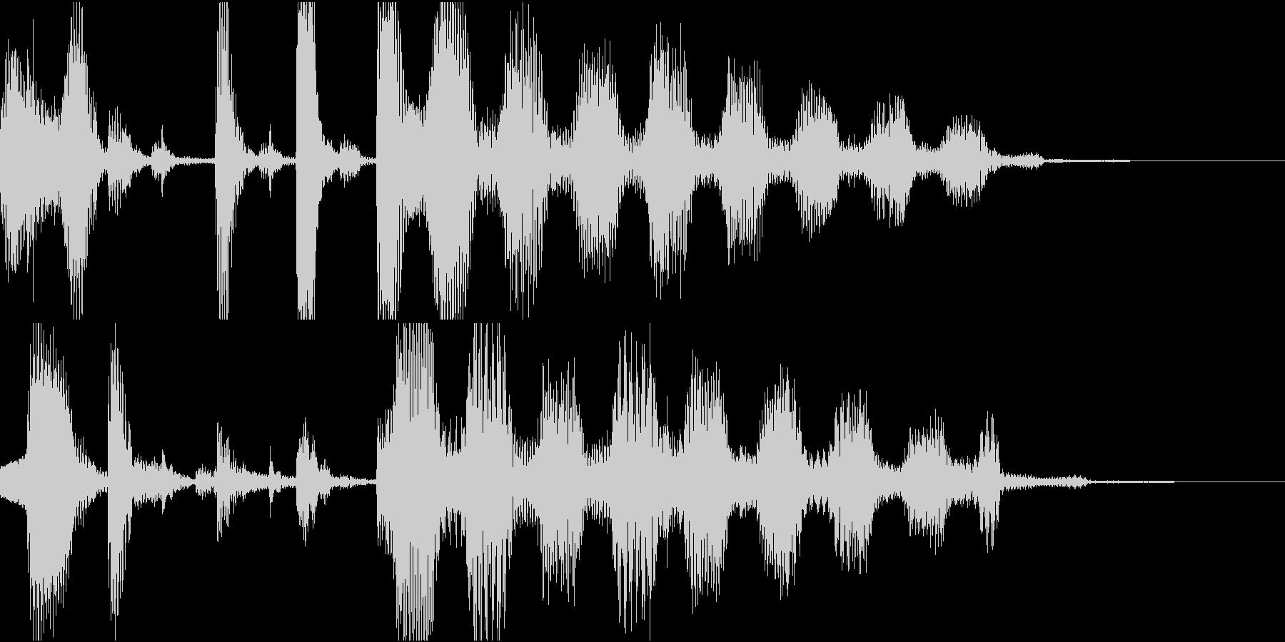 6秒ジングル ジャジーで可愛い感じの未再生の波形
