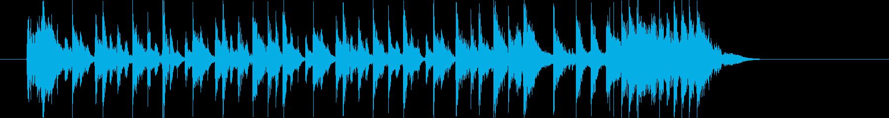 おしゃれで爽やかなシンセサイザーサウンドの再生済みの波形