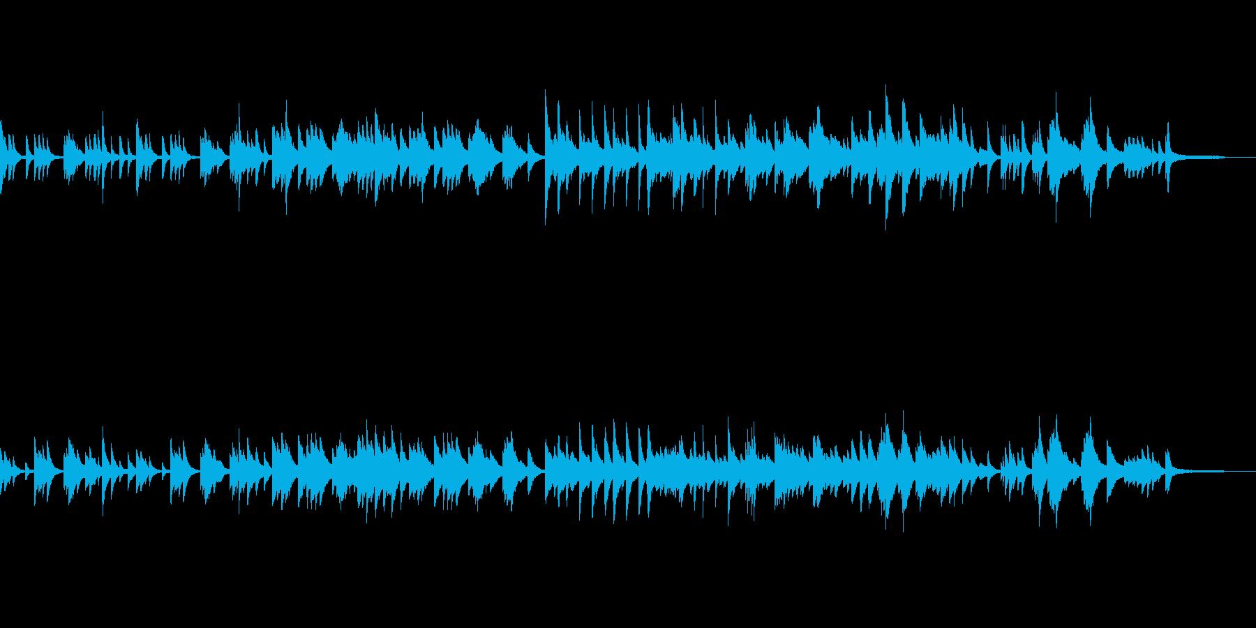 少し切なげなピアノ曲の再生済みの波形