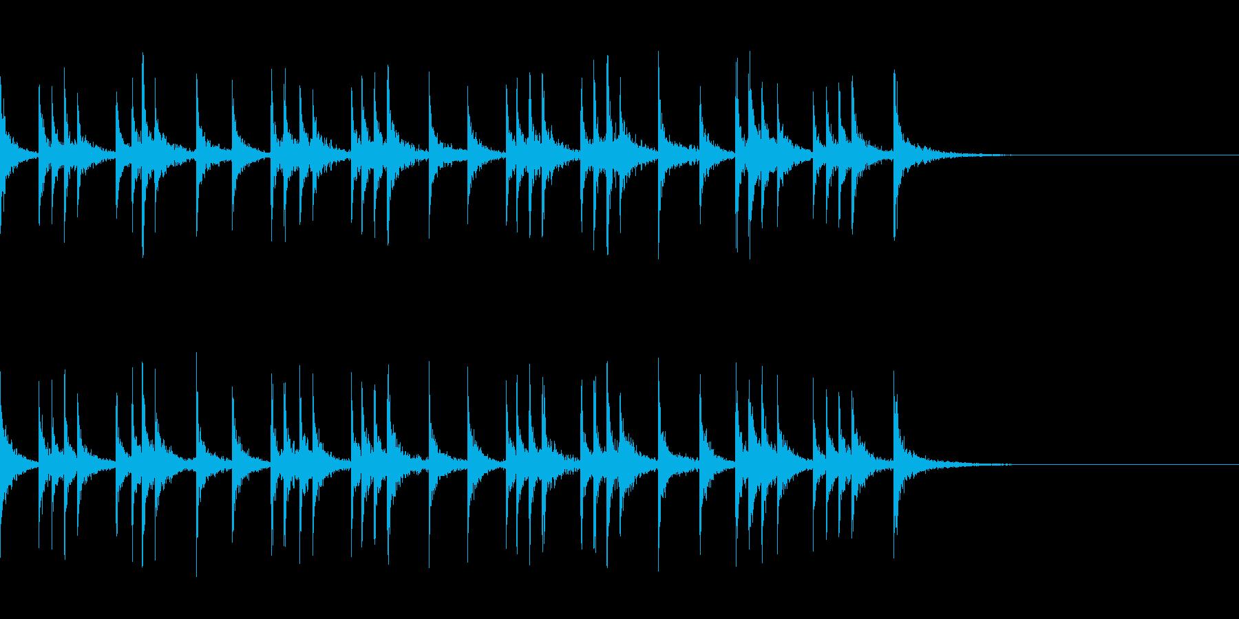 カスタネット!フレーズ2 エフェクト有の再生済みの波形
