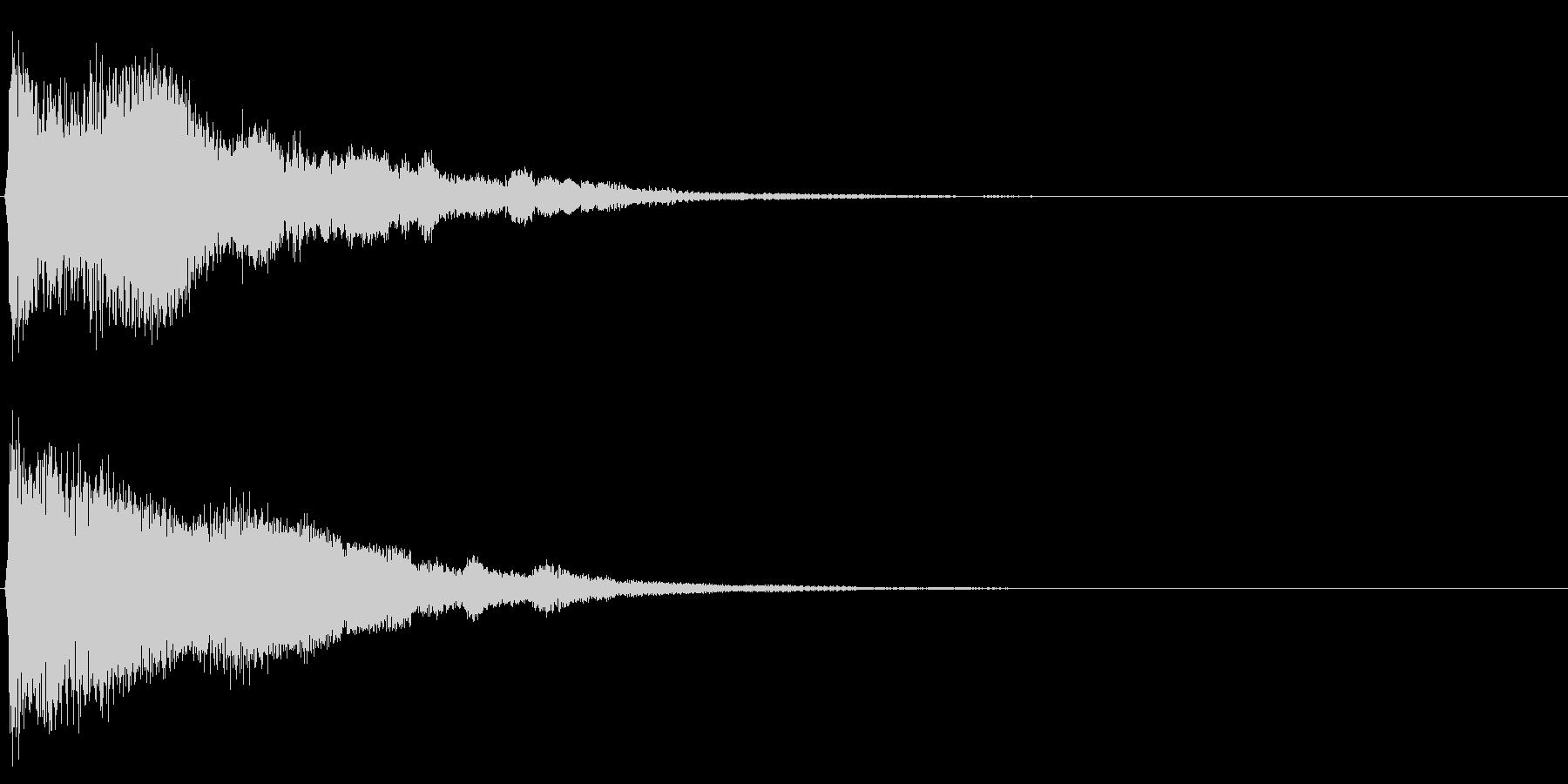 システム音33の未再生の波形