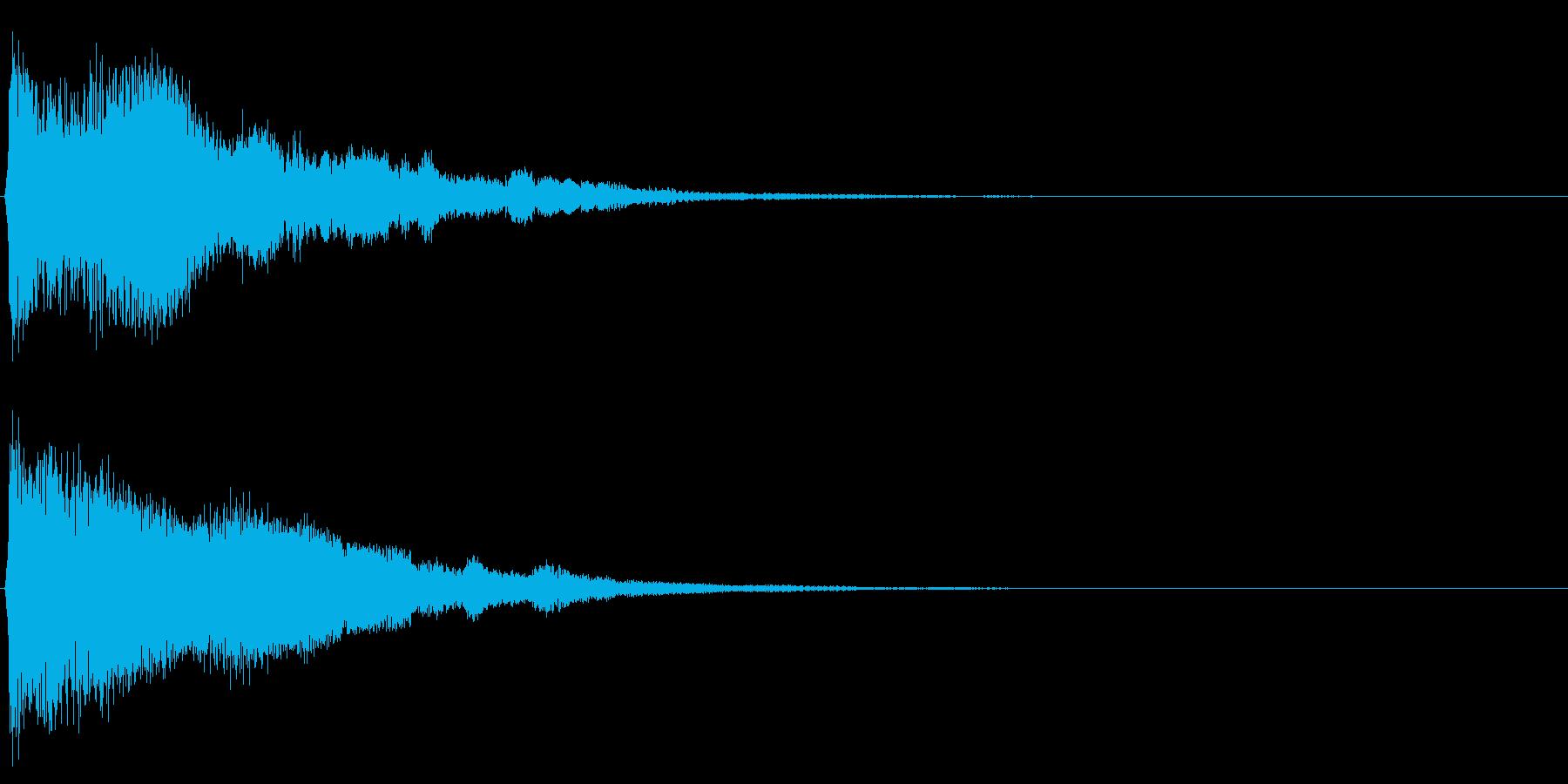 システム音33の再生済みの波形