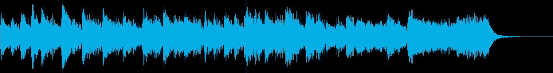 ジングル ピアノとギターの明るいジングルの再生済みの波形