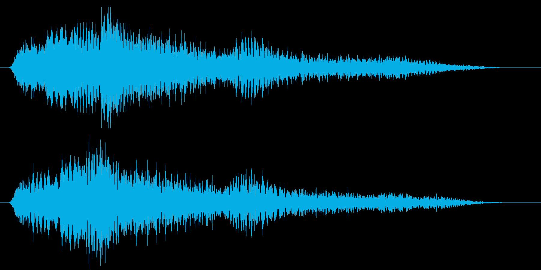 決定音 キラキラ系の再生済みの波形