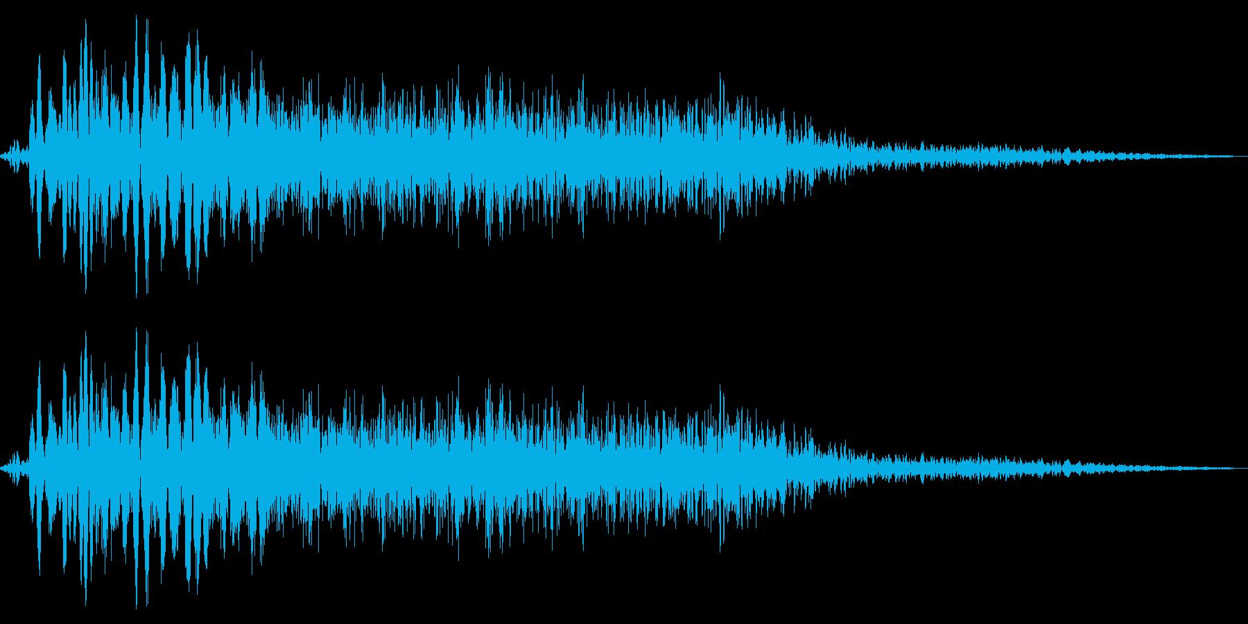 小パンチ(ジャブ_ビシッ)の再生済みの波形