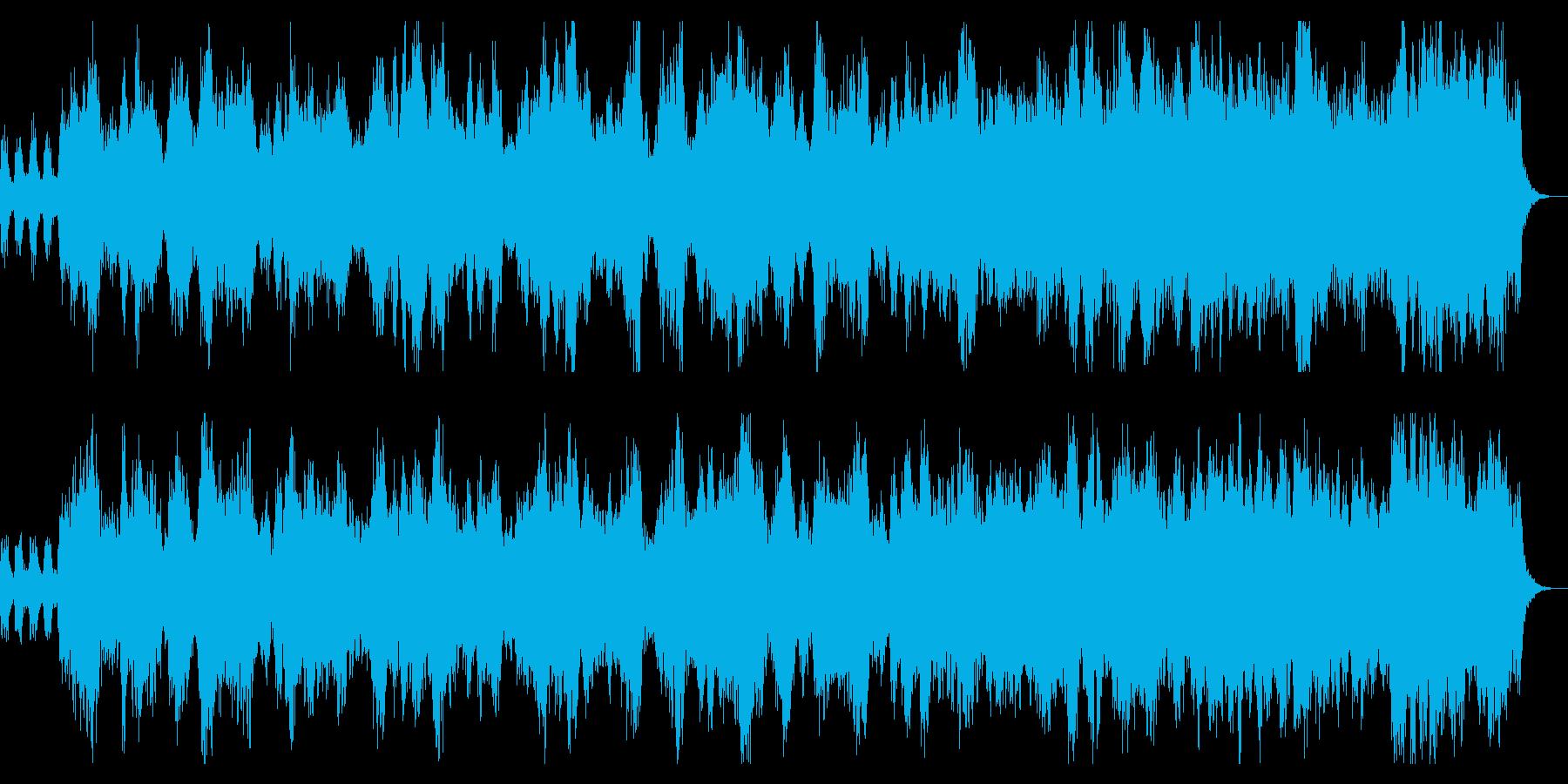 ミステリアスでダークなBGMの再生済みの波形