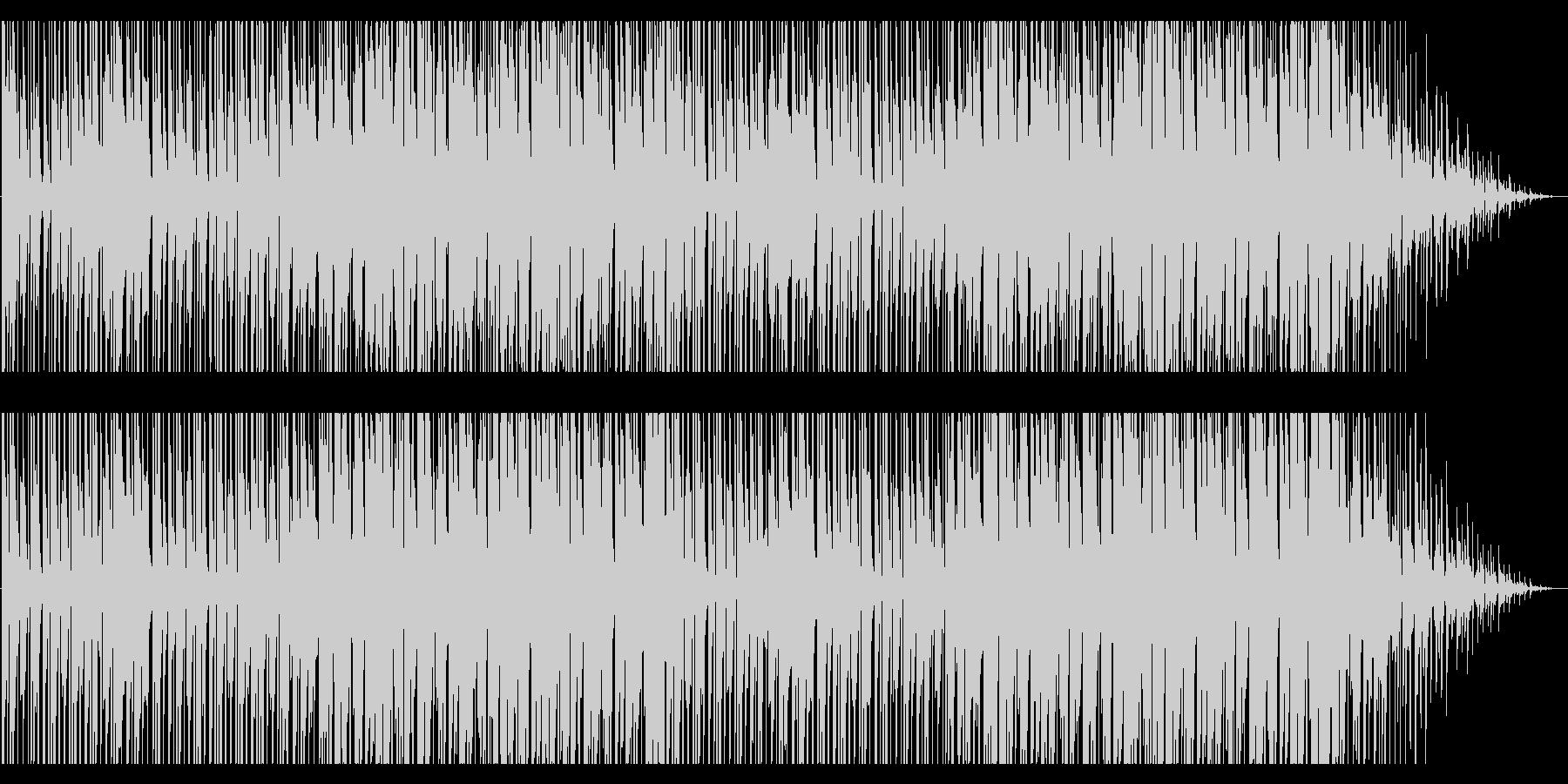 寒さが近づいてくるようなBGMの未再生の波形