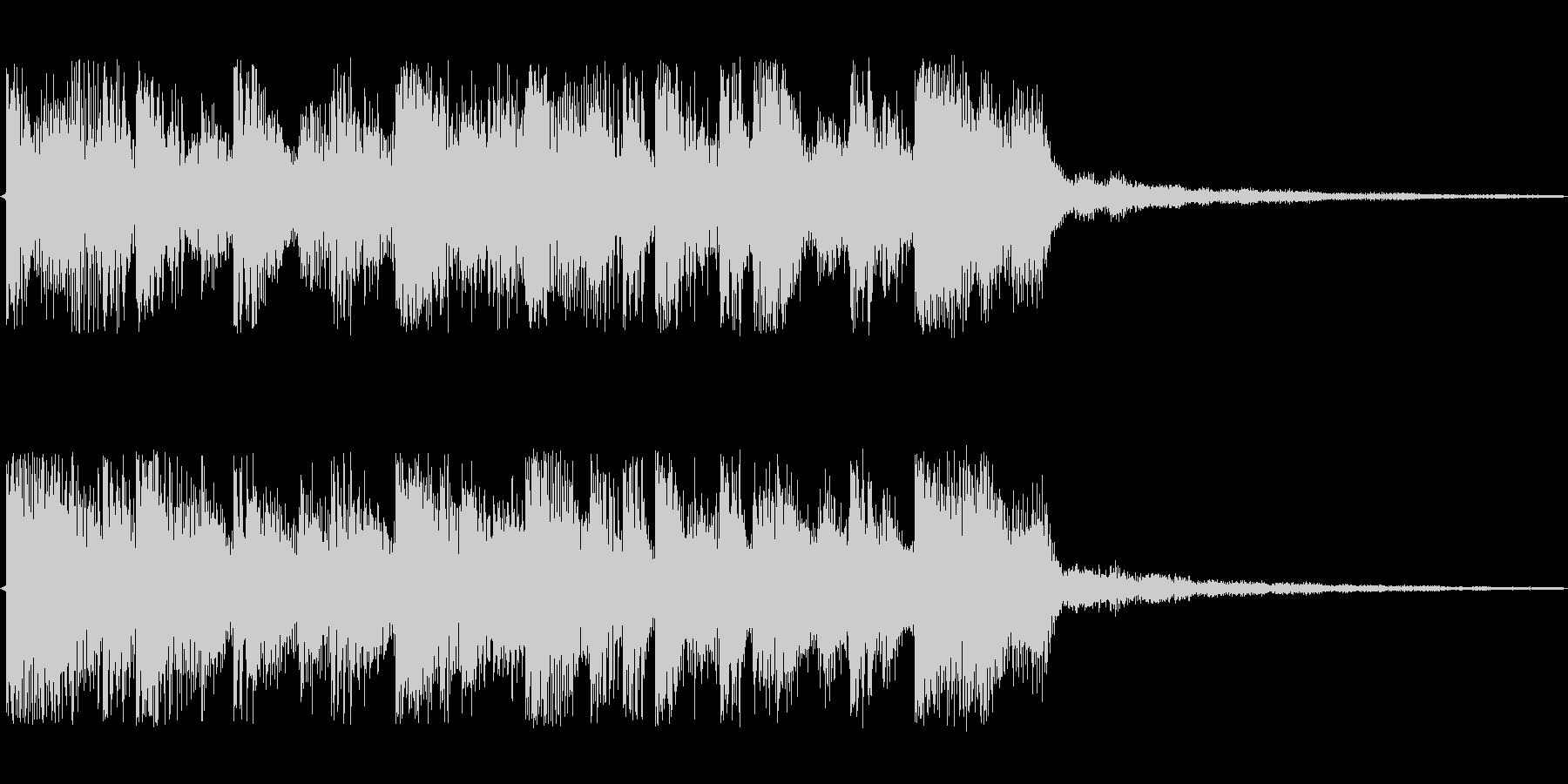 エレクトリックでクールなジングルの未再生の波形