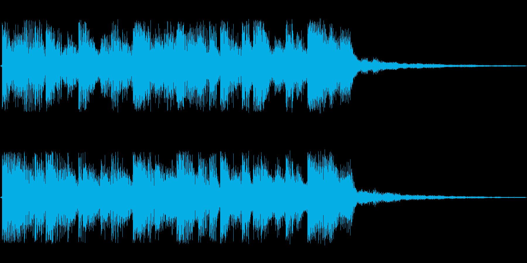 エレクトリックでクールなジングルの再生済みの波形