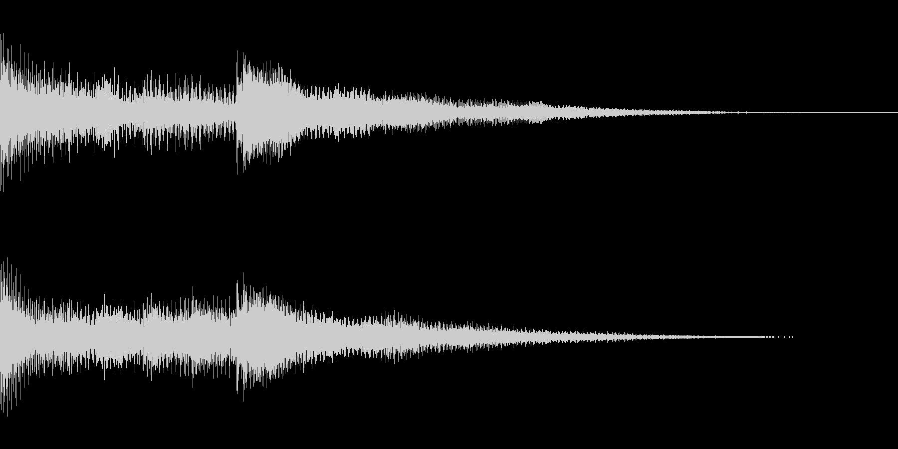 短いジングル(BELL音色)の未再生の波形