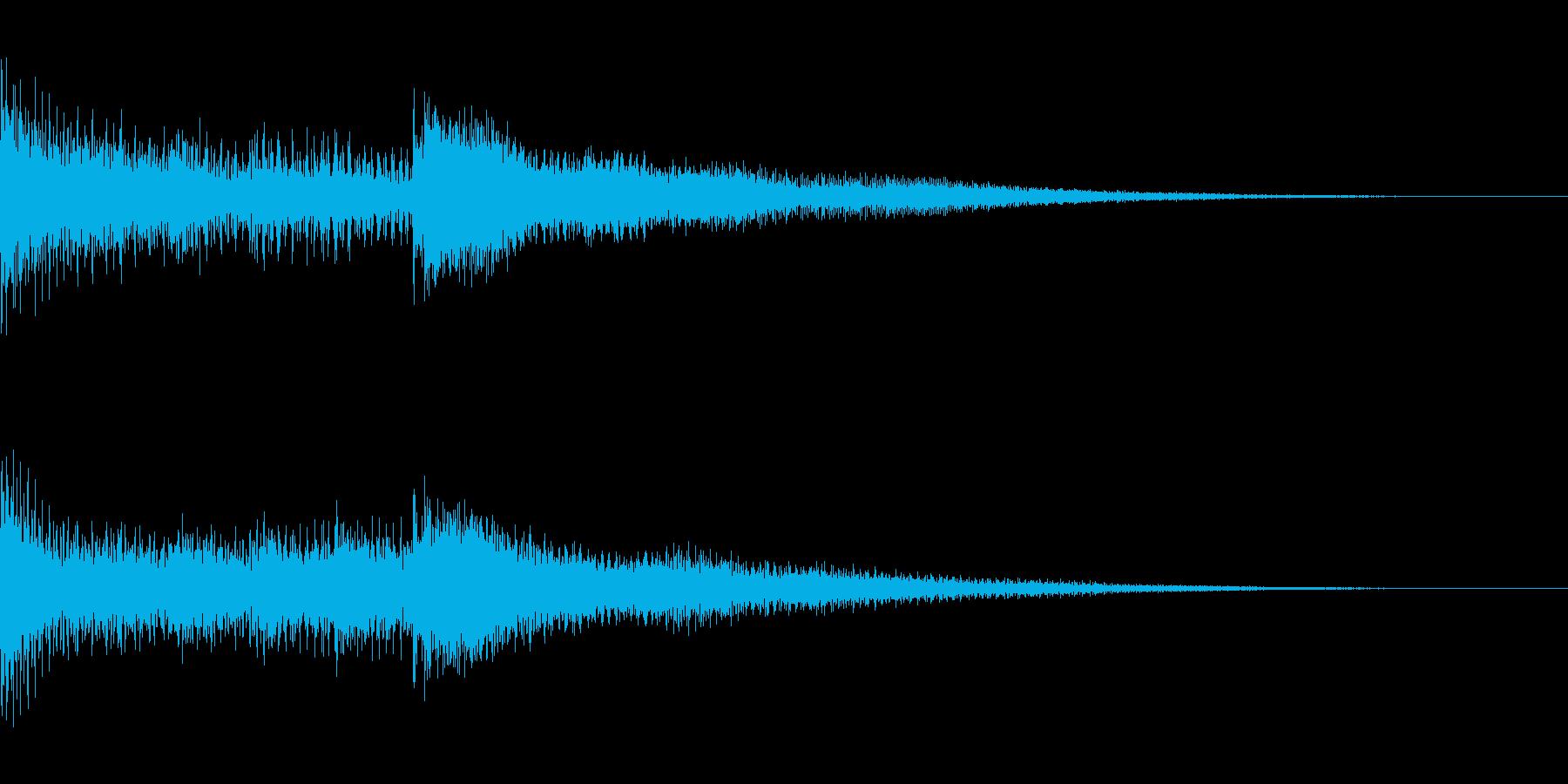 短いジングル(BELL音色)の再生済みの波形