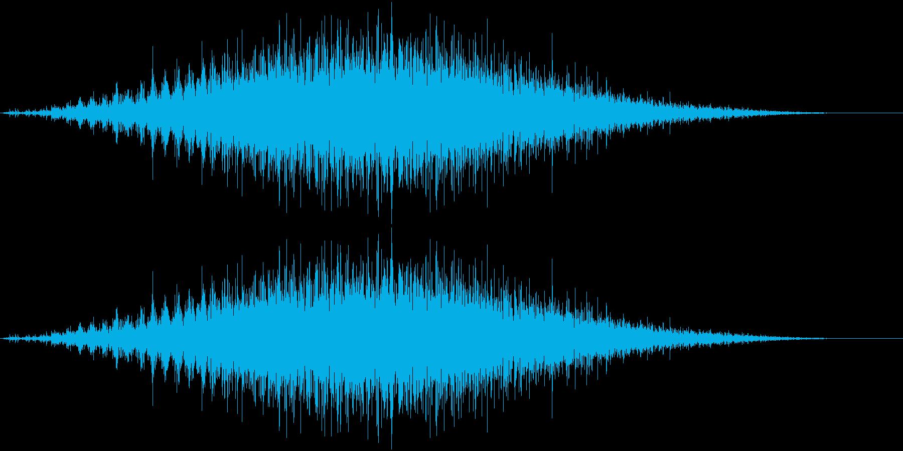 音侍SE「フルフル〜」軽快な振り鈴の音の再生済みの波形