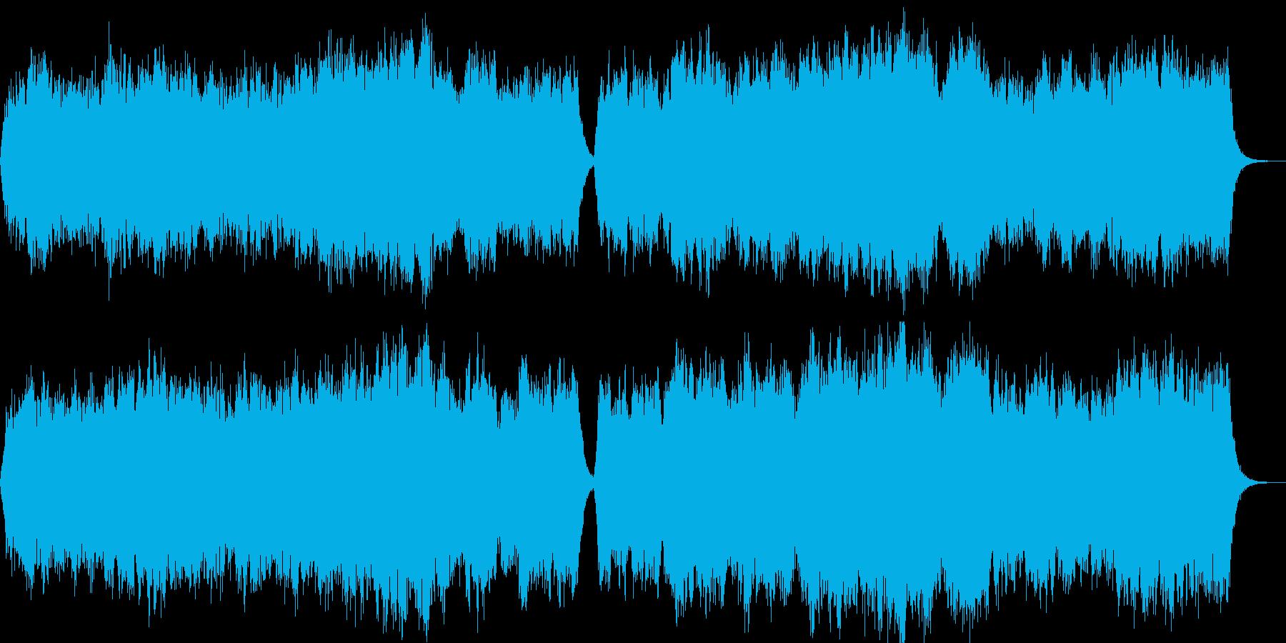 優しい弦楽アンサンブルの再生済みの波形