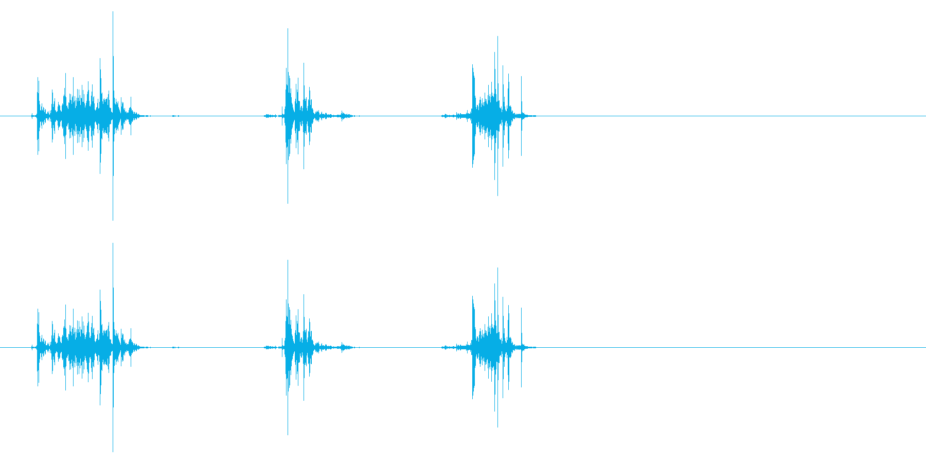 紙を破る6の再生済みの波形