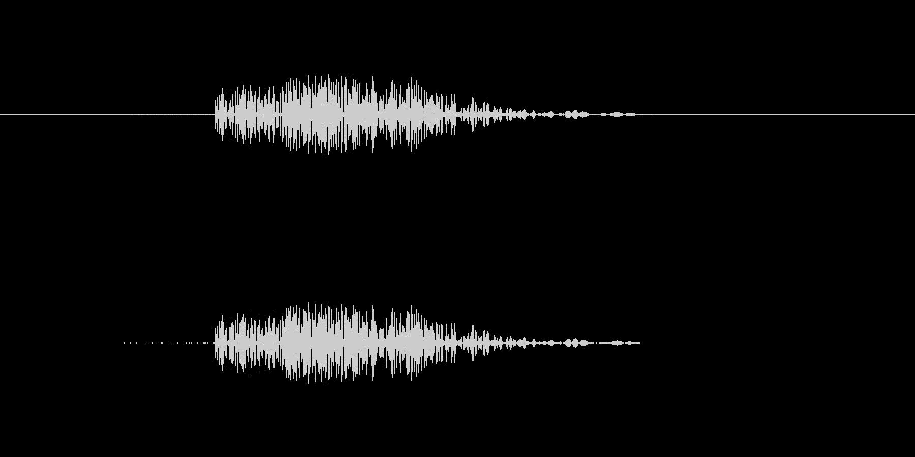 カチッなるシンプルな効果音の未再生の波形