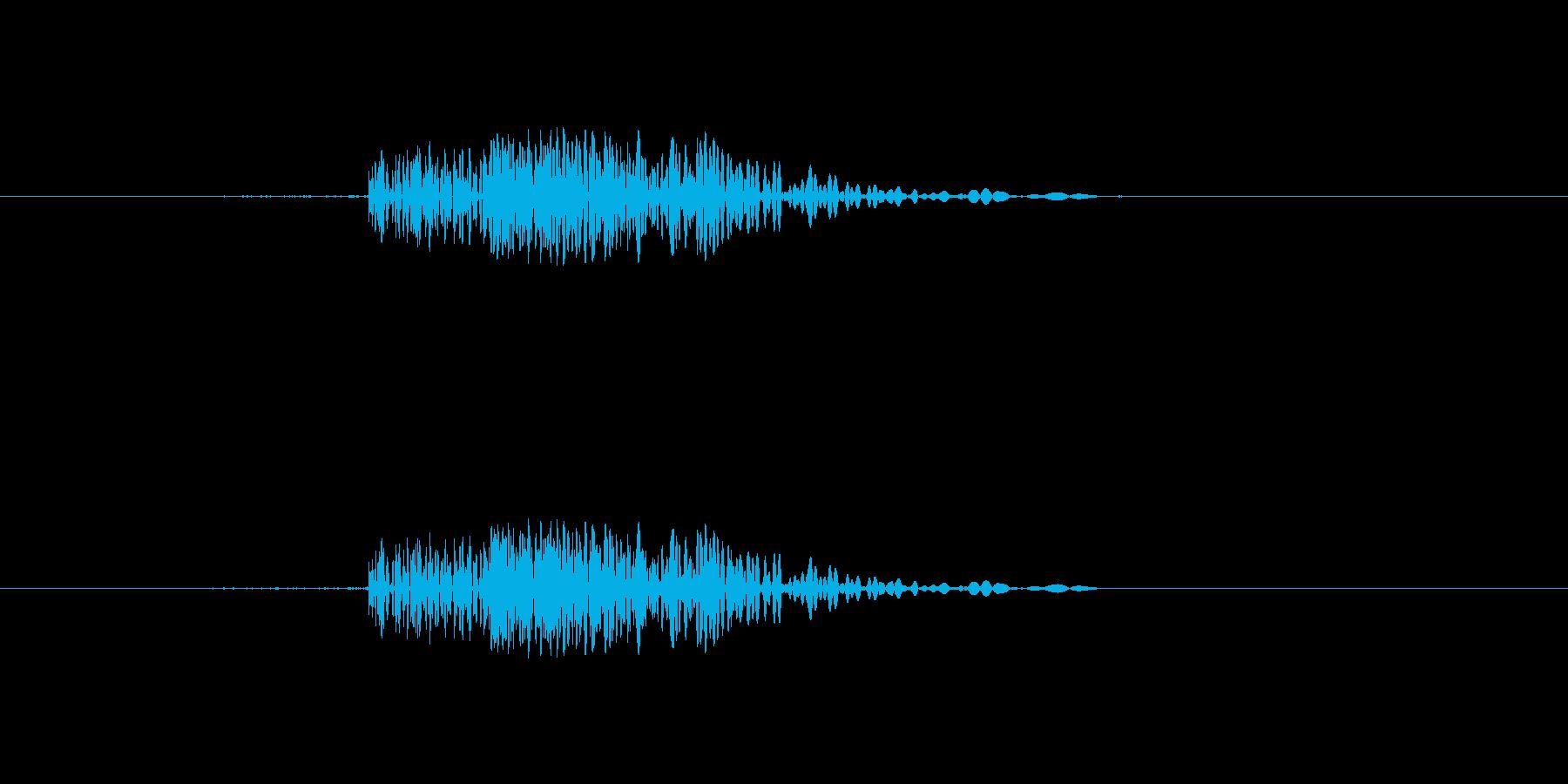 カチッなるシンプルな効果音の再生済みの波形