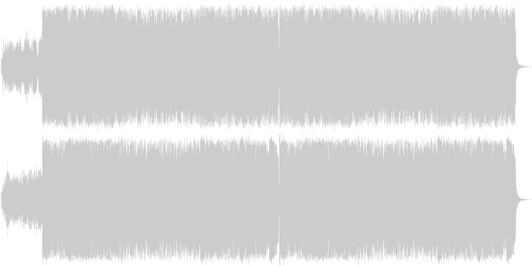 (CM)エレキギター情熱曲の未再生の波形