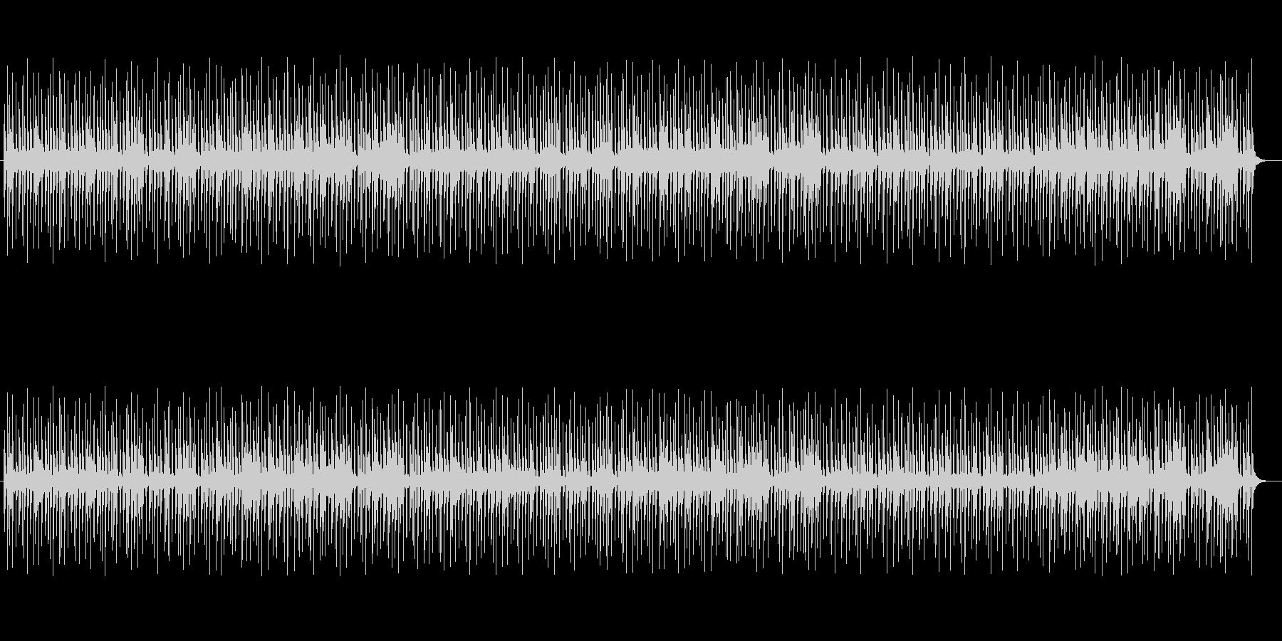 神秘的に響き渡るミュージックの未再生の波形
