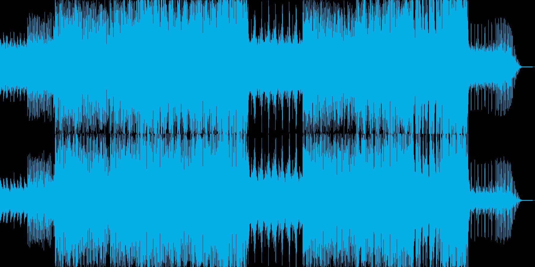 アンビエント系の優しいヒーリングポップスの再生済みの波形
