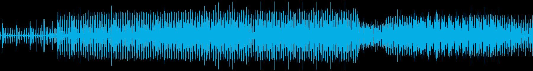 ほのぼのしたdub調の曲の再生済みの波形