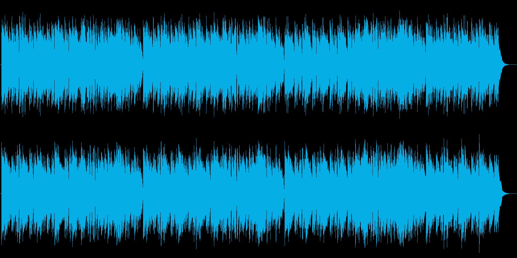 幻想的でマイナーなピアノメロディーの再生済みの波形