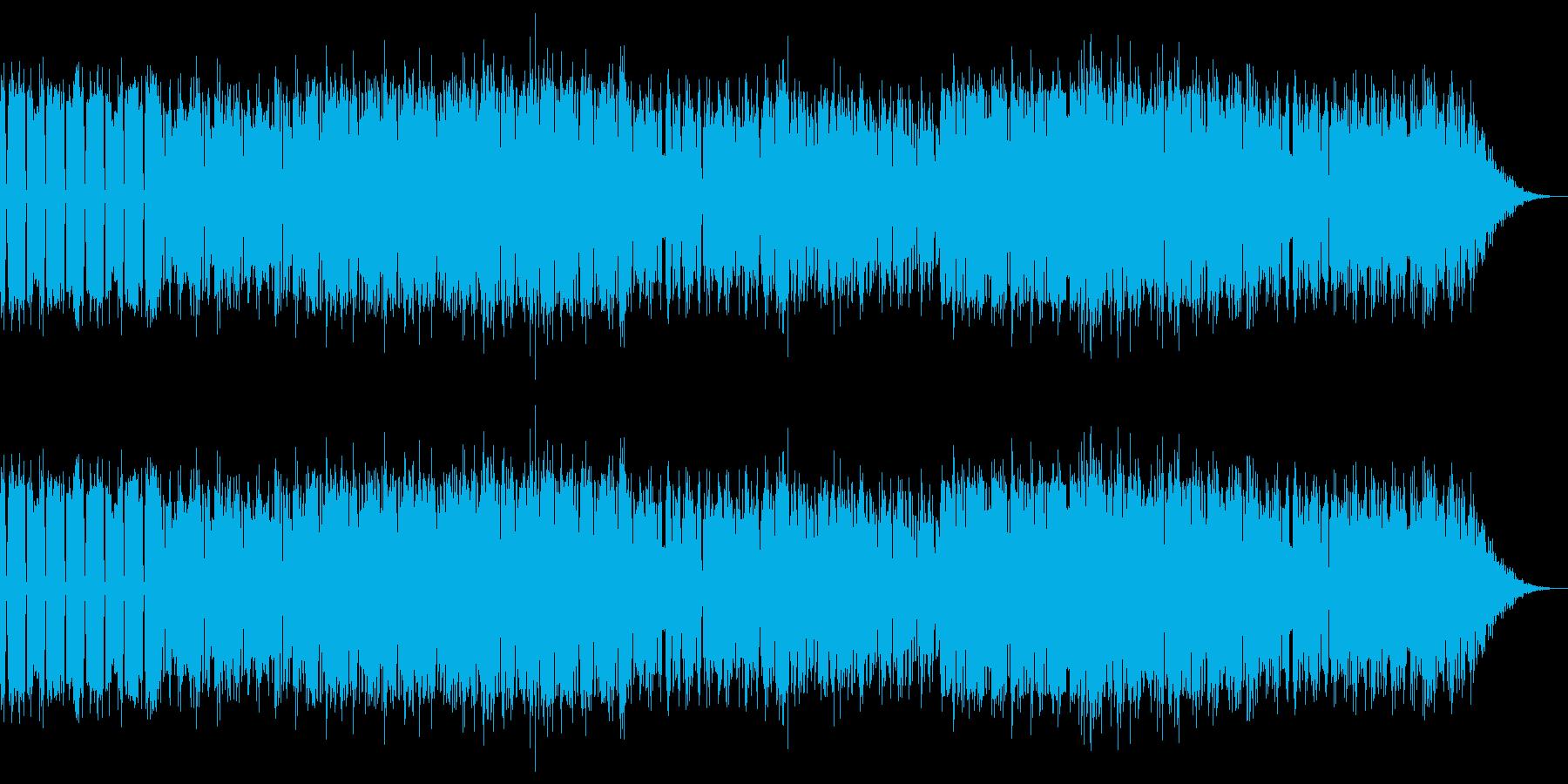 ファミコンシューティング風のBGMの再生済みの波形