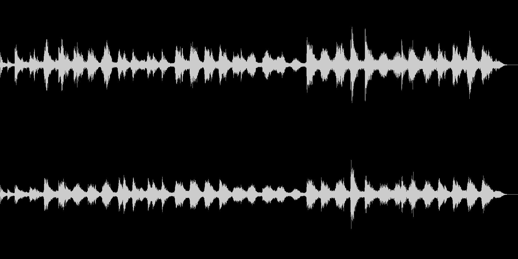和風アジア風の瞑想ヒーリング的電子音楽の未再生の波形