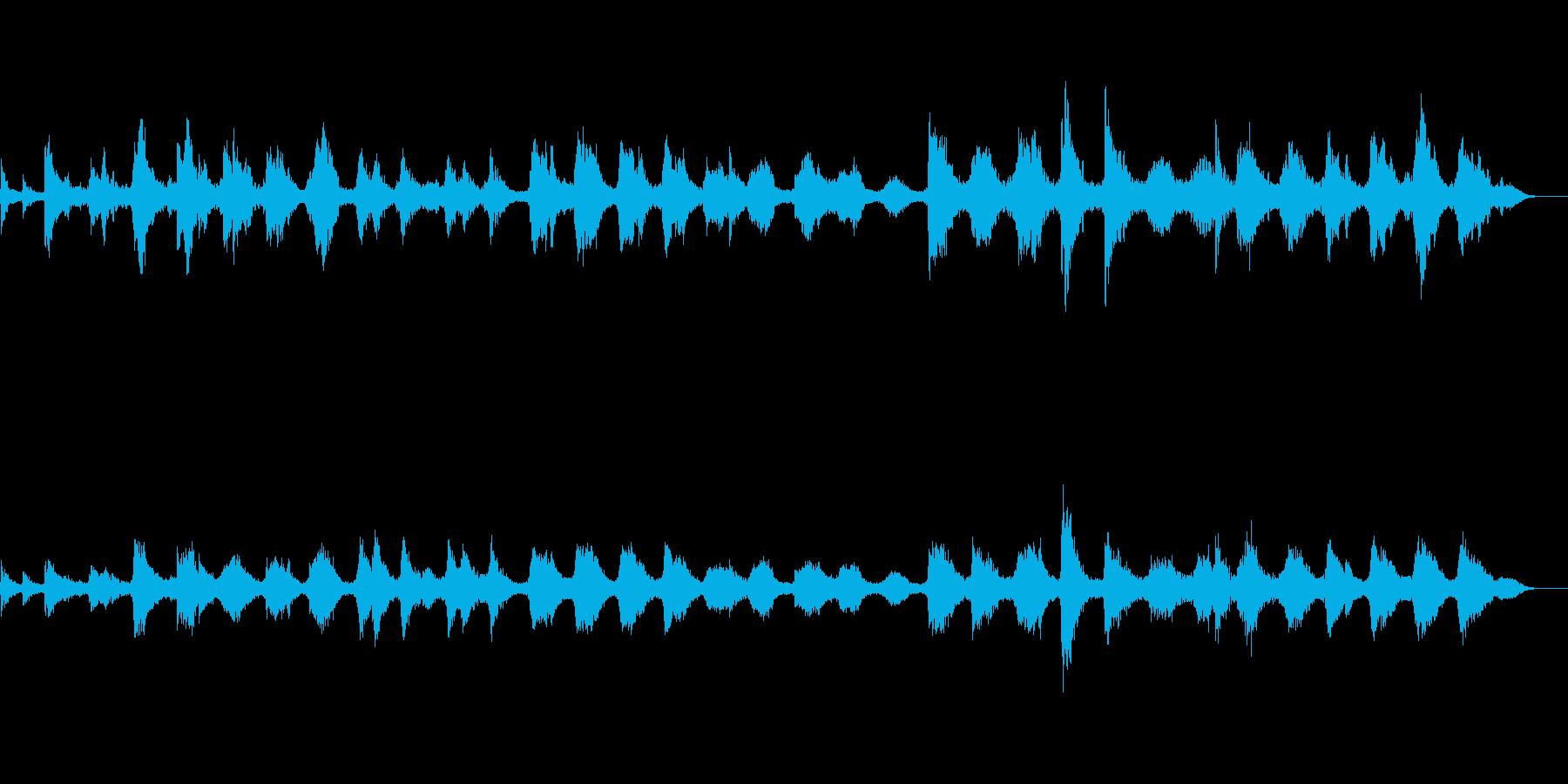和風アジア風の瞑想ヒーリング的電子音楽の再生済みの波形