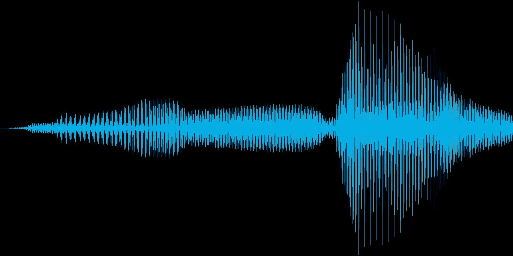 問題!女の子の声の再生済みの波形