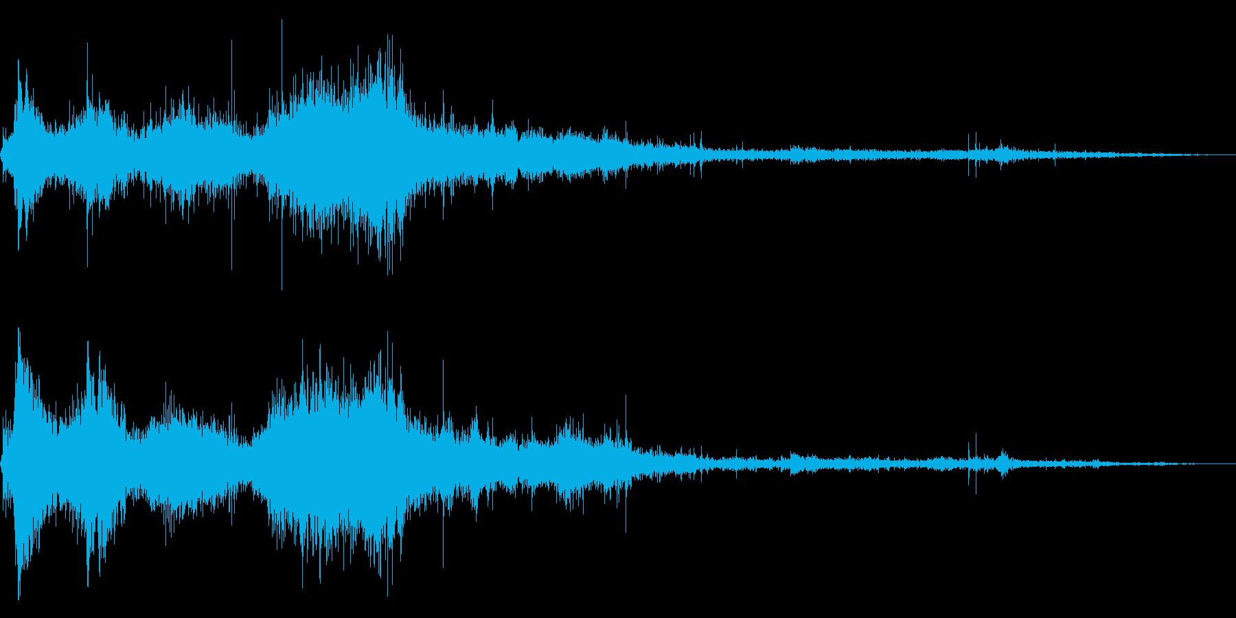 水に飛び込んだ時の効果音 04の再生済みの波形