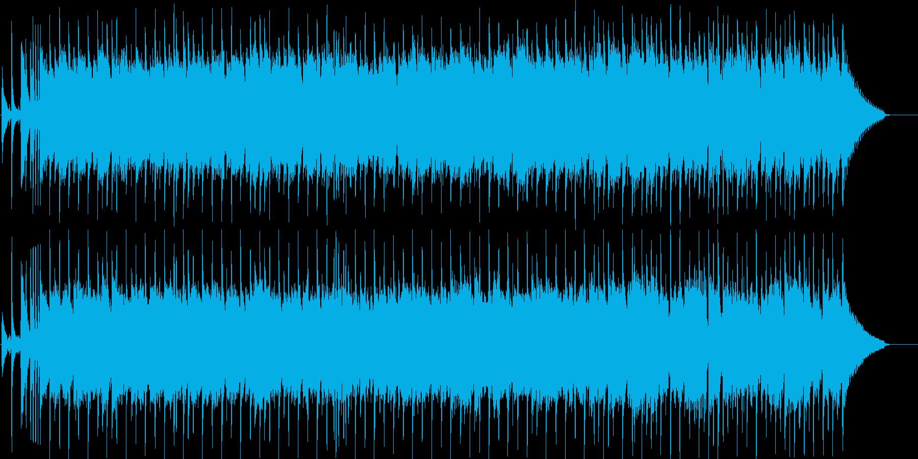 ほのぼの、のんびりとした日常系ポップスの再生済みの波形