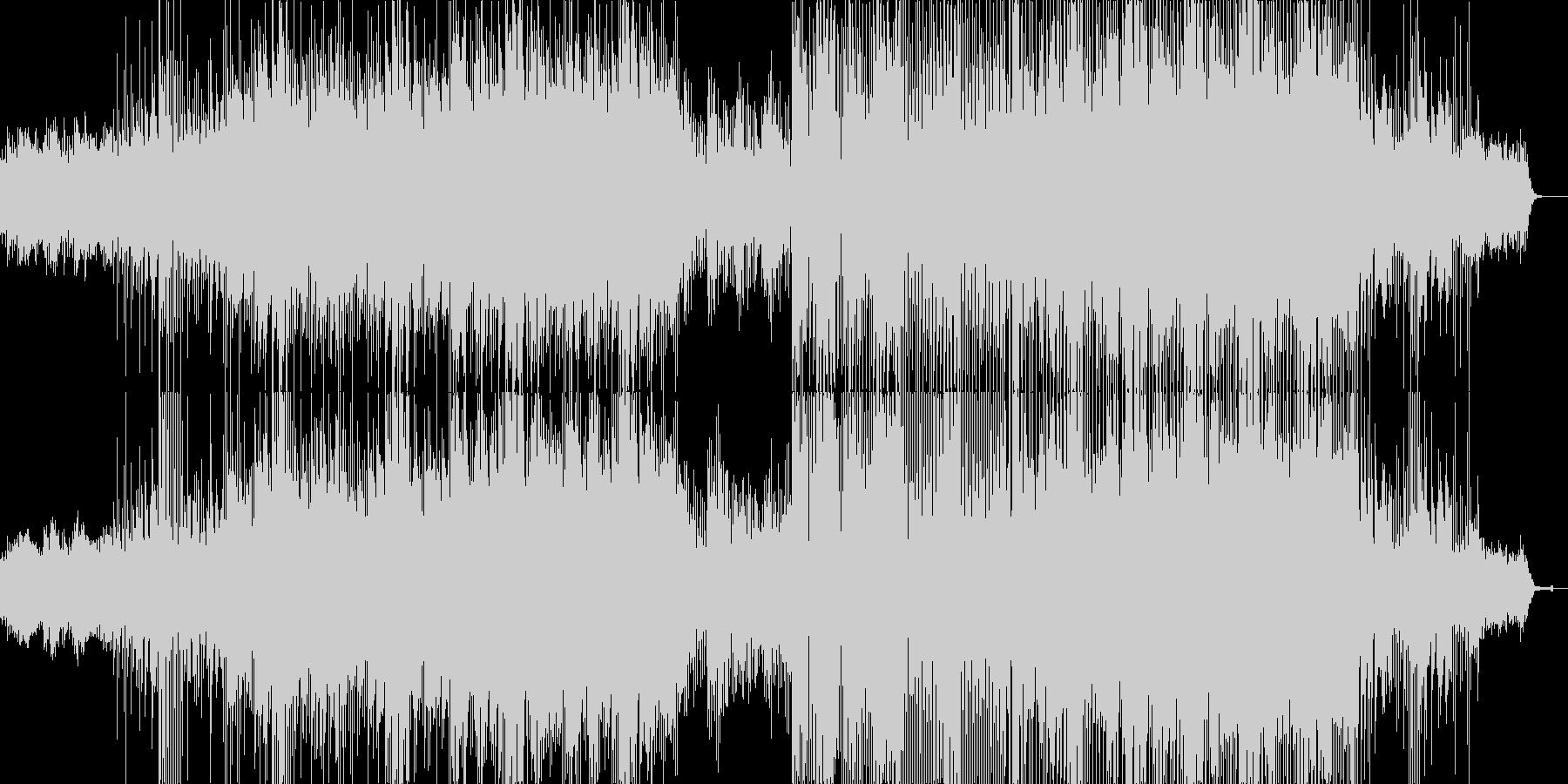 ファンタジー系の幻想的なテクノポップの未再生の波形