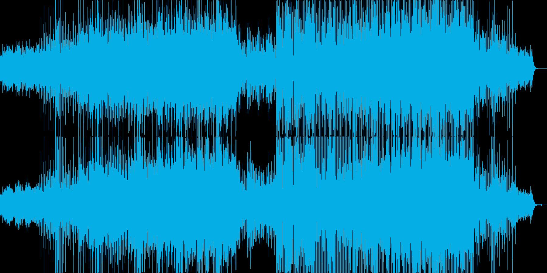 ファンタジー系の幻想的なテクノポップの再生済みの波形