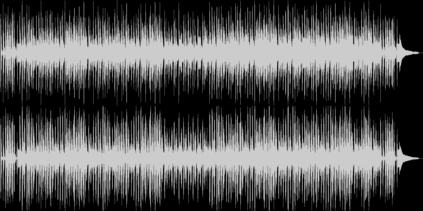 明るくほのぼの、穏やかなBGMの未再生の波形