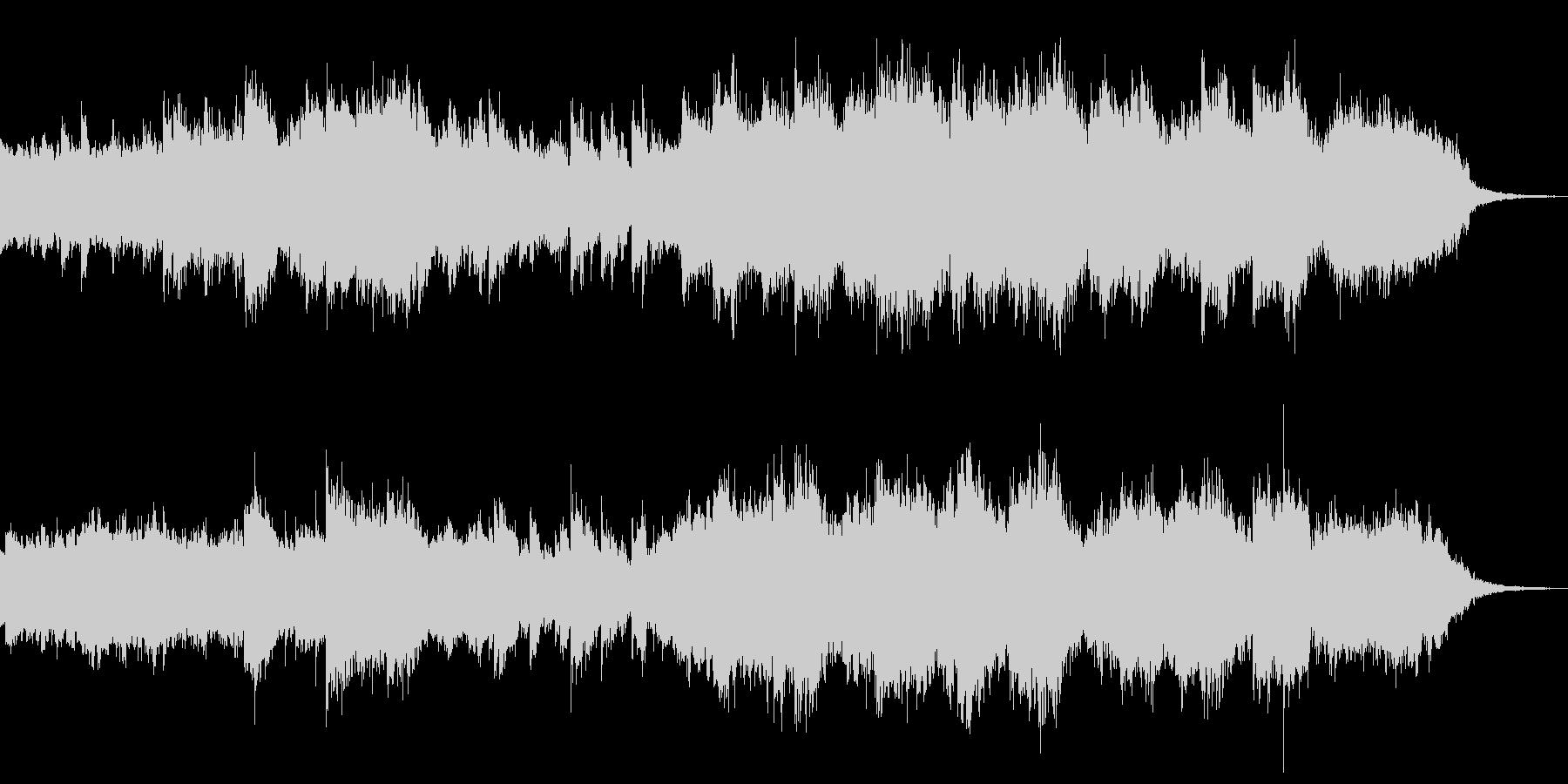 さざ波のピアノと弦楽器 映像 企業VPの未再生の波形