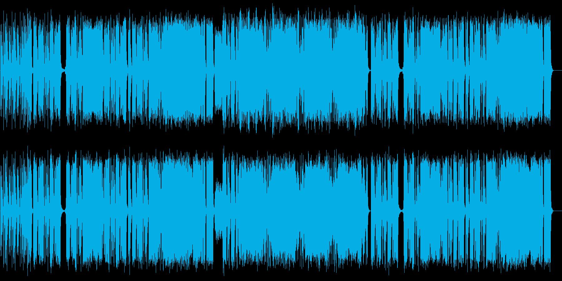 ノリノリのロックミュージックの再生済みの波形