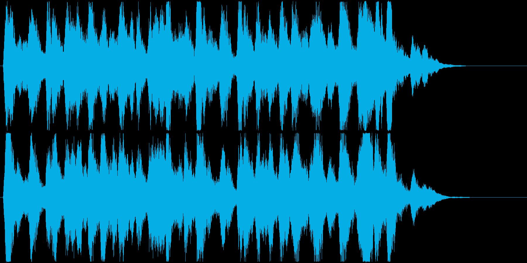 明るく、楽しいストリングス/スピッカートの再生済みの波形