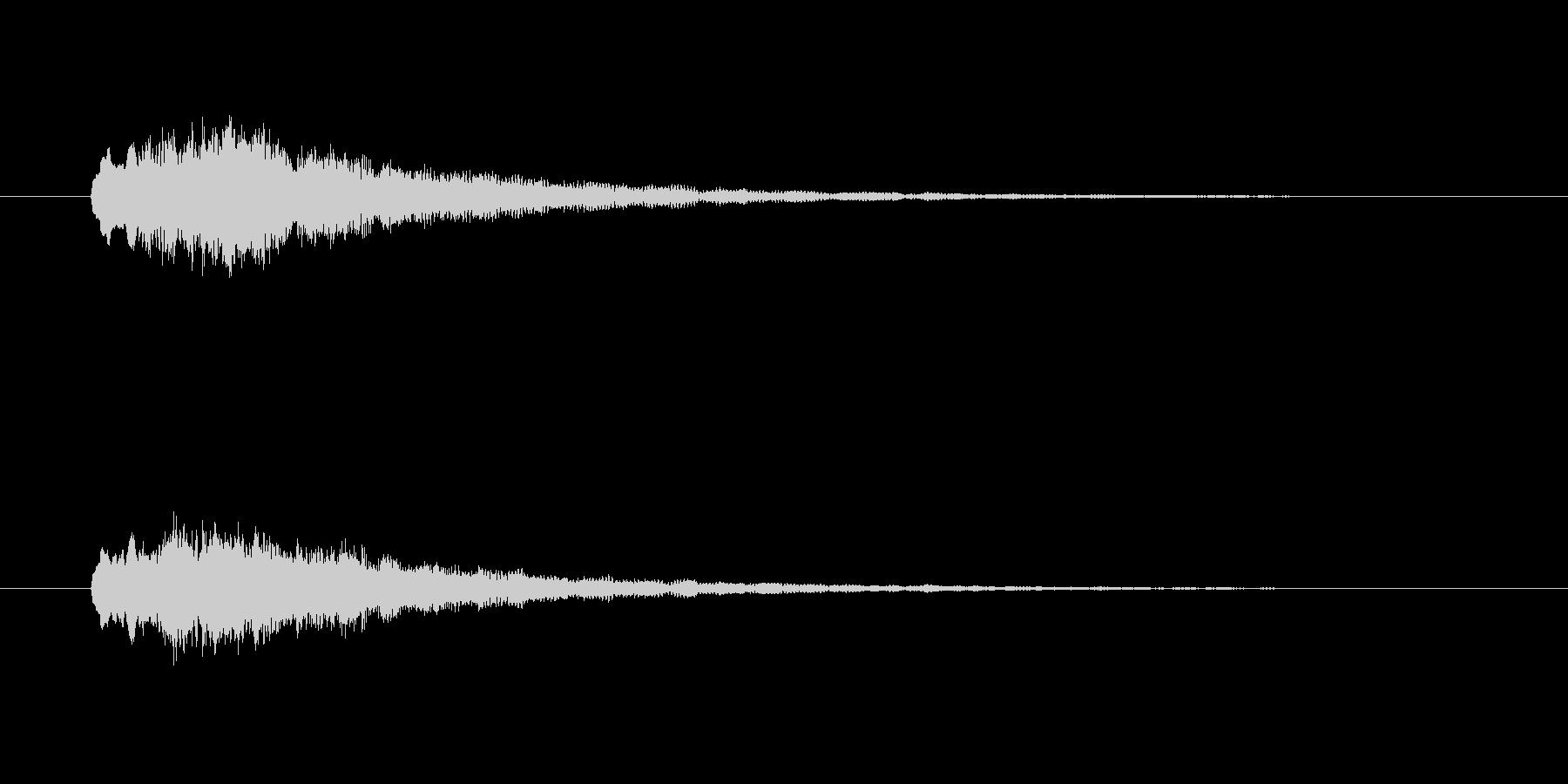 ピポピポーーン(出発、電車)の未再生の波形