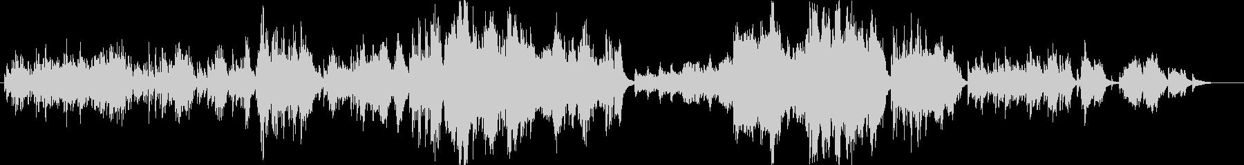 キュンとするピアノソロの未再生の波形