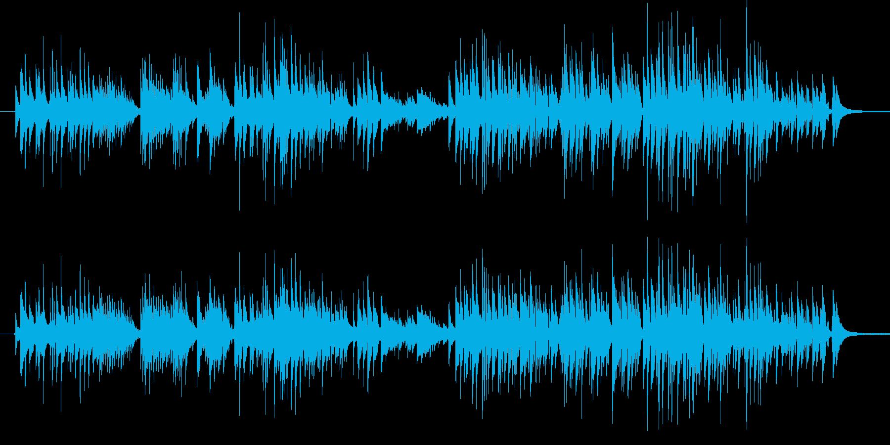 ギターデュオの録音です。さりげなく、カ…の再生済みの波形