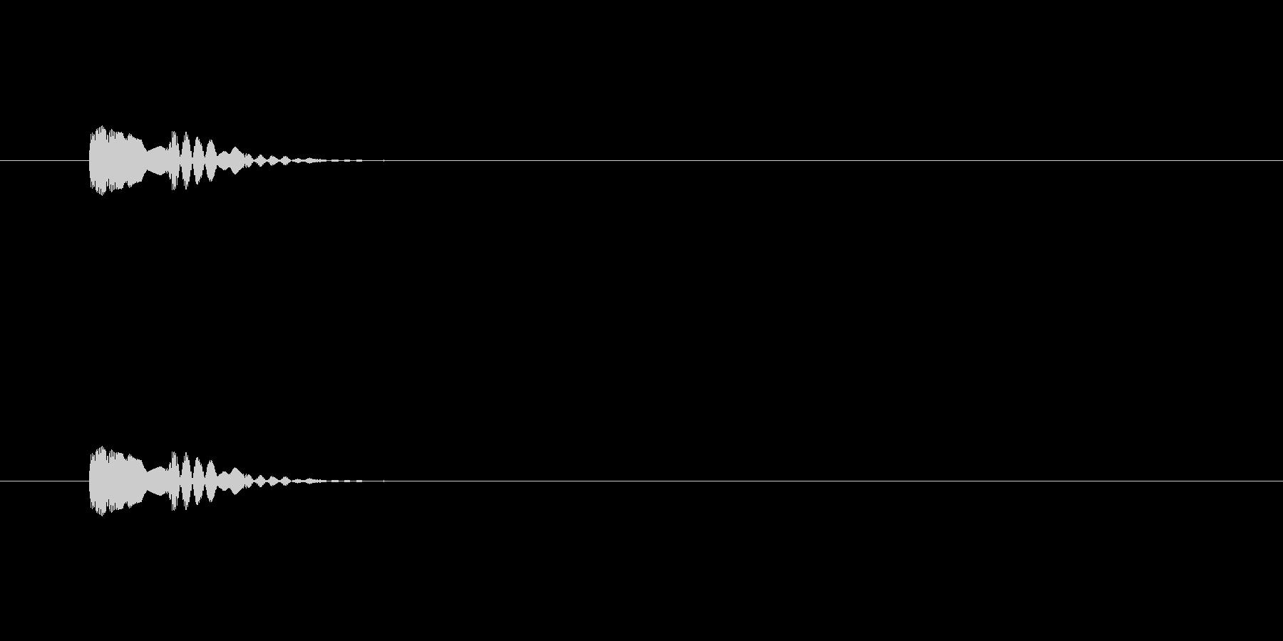 【アクセント27-1】の未再生の波形