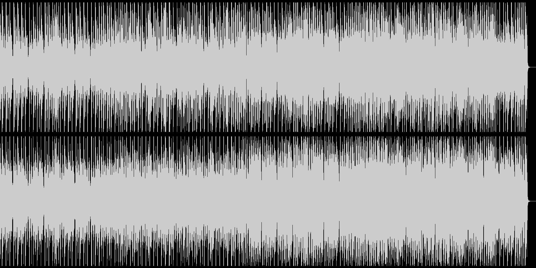 ジングルベル ゆったり南国風 ドラム抜きの未再生の波形