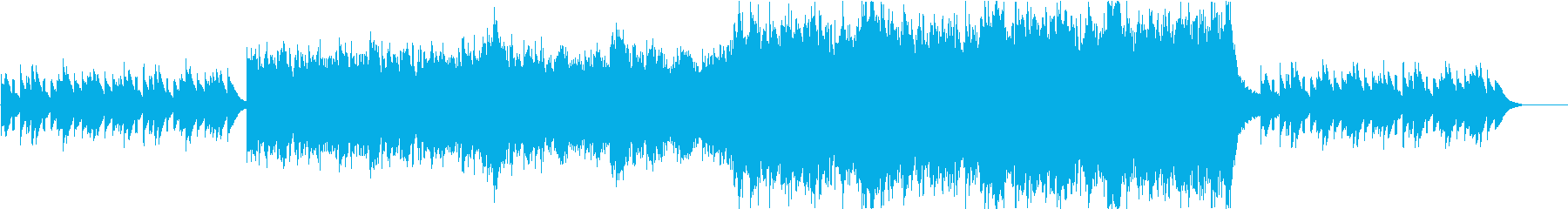 切ないピアノと感動系オーケストラの再生済みの波形
