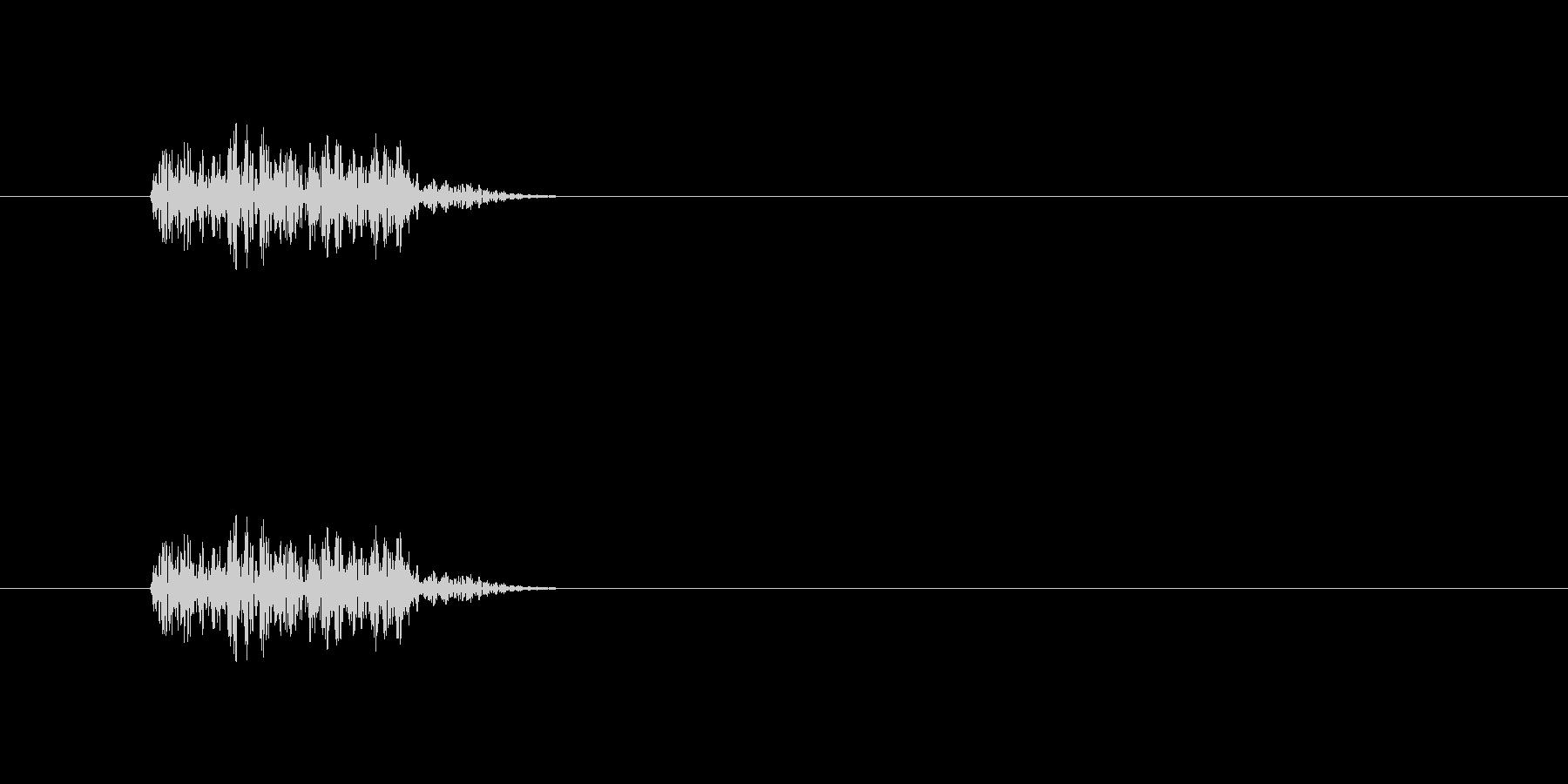敵の行動時に流れそうな効果音の未再生の波形