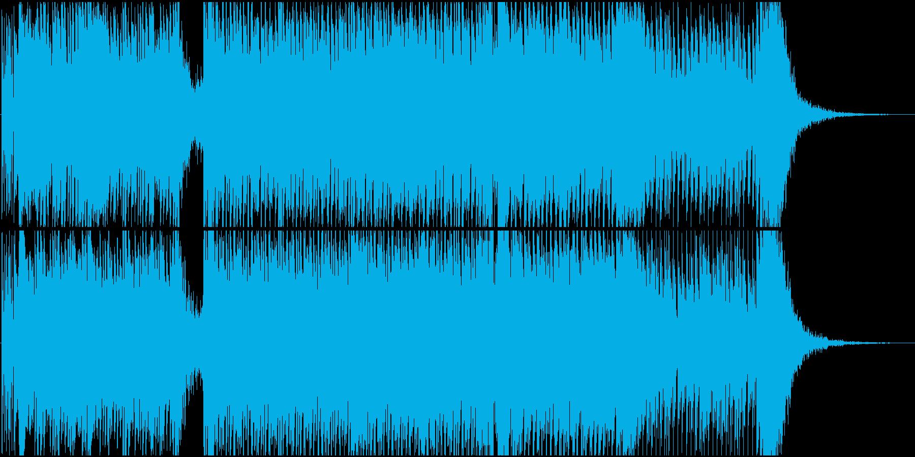 高揚感のあるエレクトロのオープニングの再生済みの波形