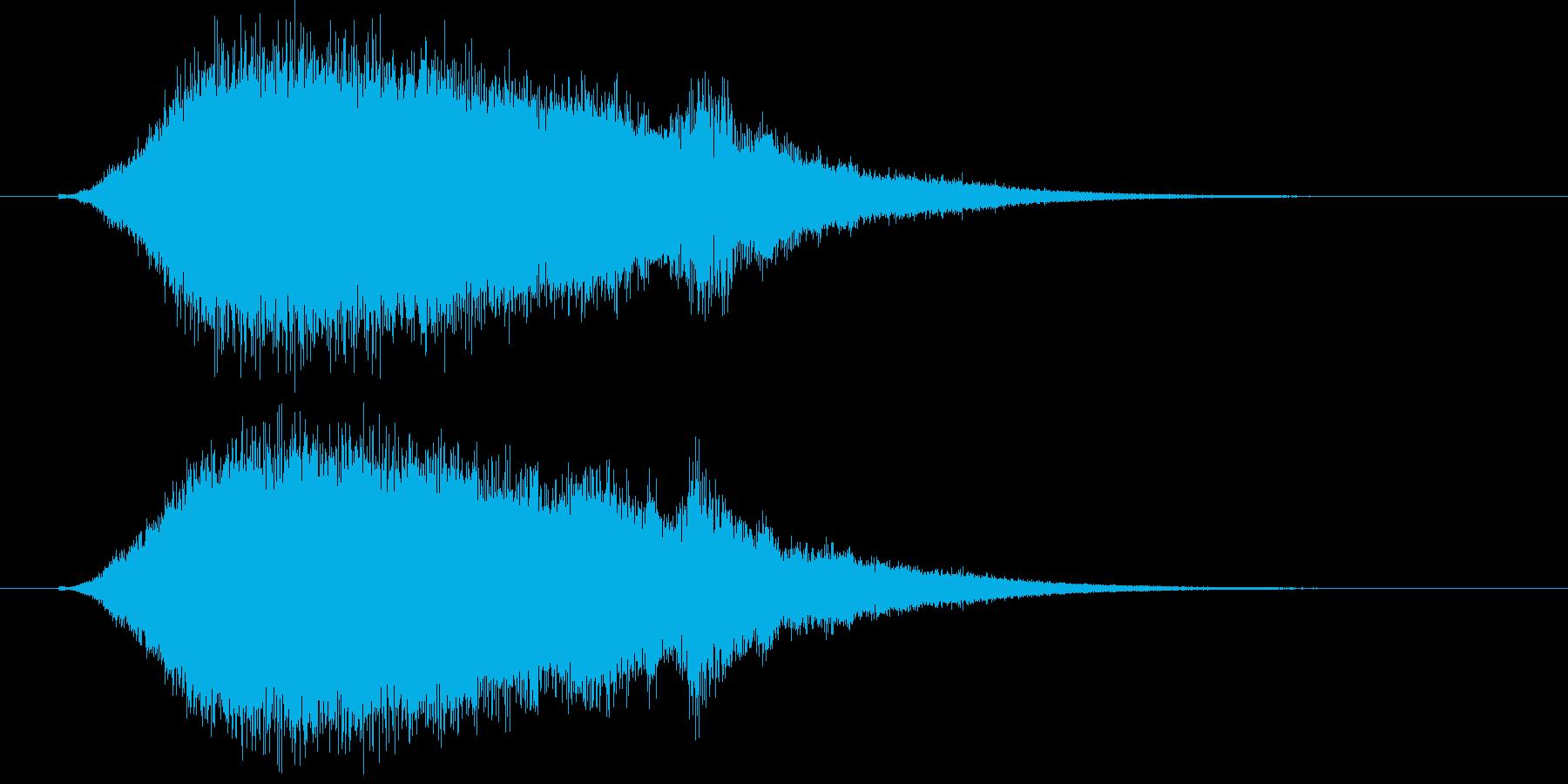 シュワー(発泡・炭酸イメージジングル)の再生済みの波形